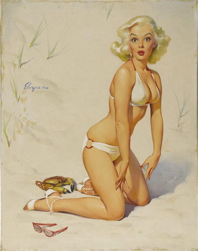 винтажный пин-ап 1959 года от Gil Elvgren