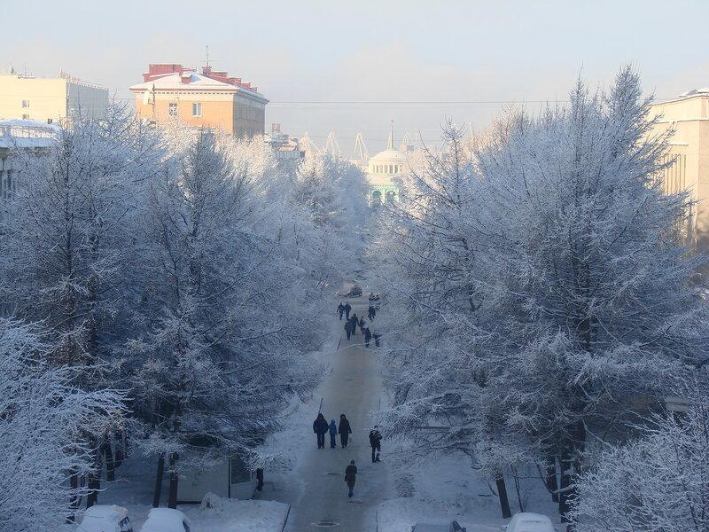 мурманск  зимой