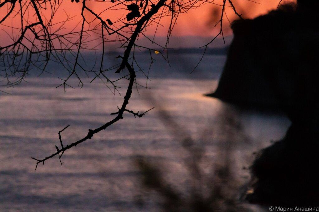 Закат, Черное море, Толстый мыс, Геленджик