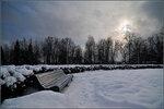 зимняя скамейка