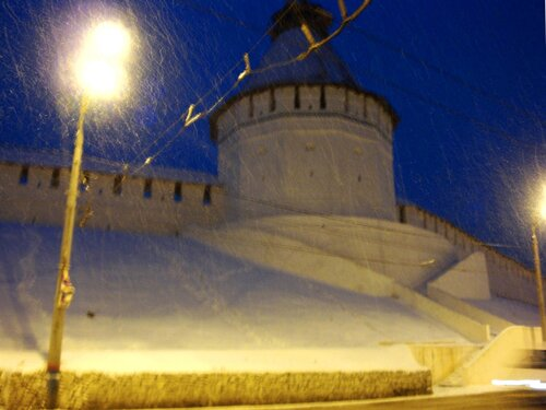 Астрахань, Новый Год-2009,кремль, башня Красные Ворота
