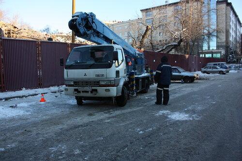 Незаконный снос техникума на Хитровской площади. Репортаж 12 января. Сомнительная вырубка 60! деревьев!
