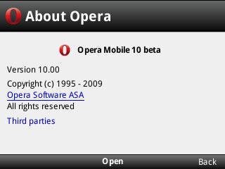 Opera Mini 5 и Opera Mobile 10 - вторая бета-версия