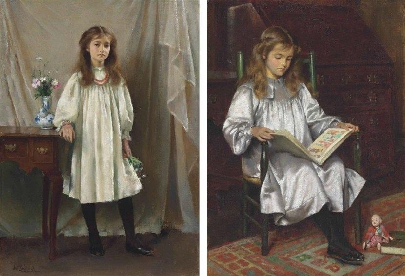 Два портрета дочери художника, Марии