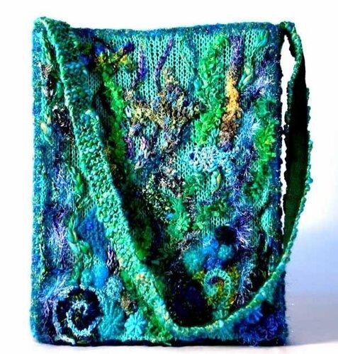 сумки хендмейд вязание крючком фриформ
