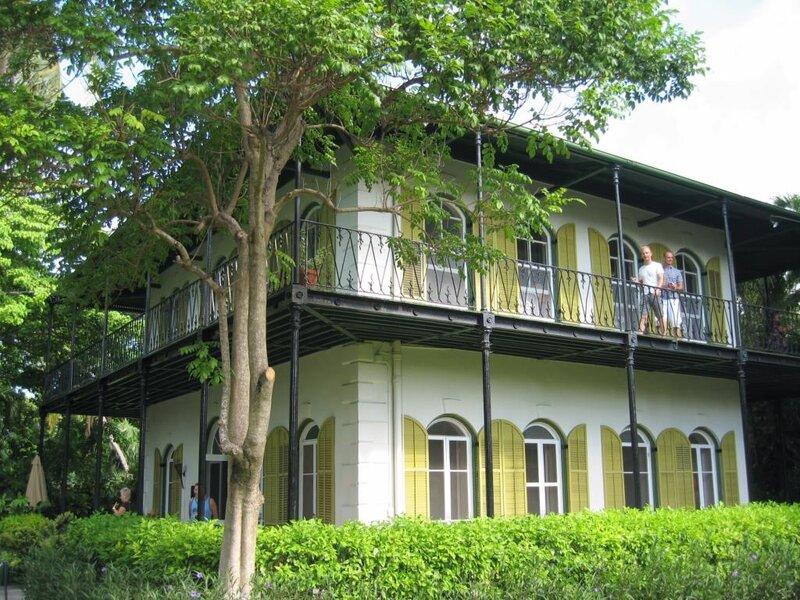 Дом, где жил Хэмингуэй.