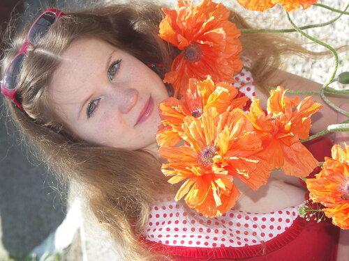 оранжевый махровый мак