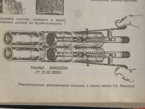 реконструкция пистолета из которого был убит Бандера