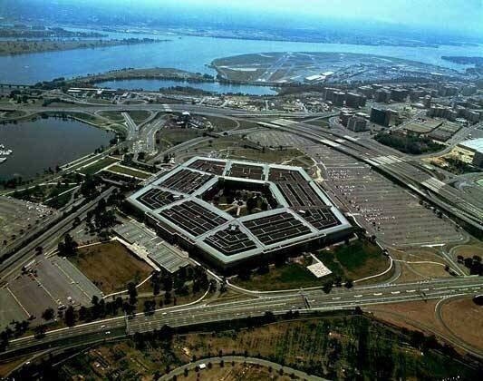 здание Пентагона вид сверху