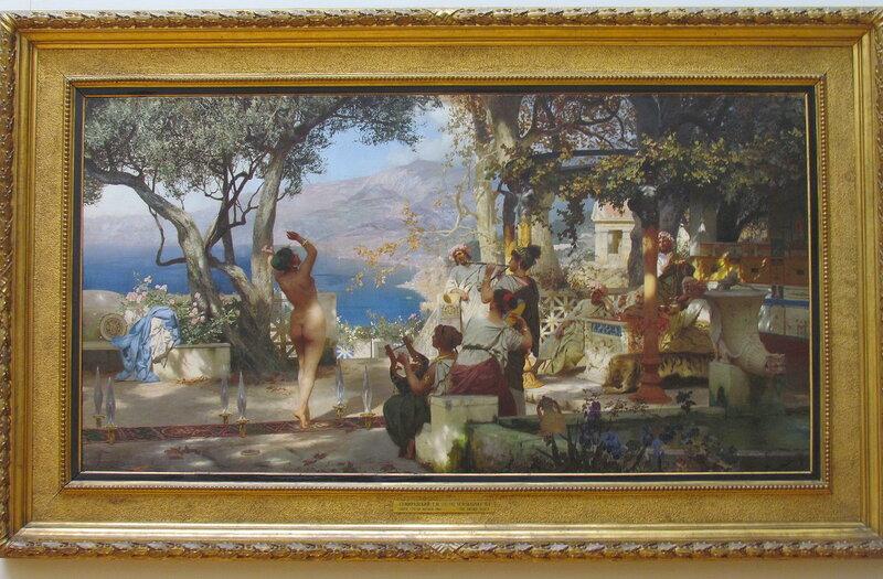 Семирадский Г.И. Танец среди мечей. 1881. Холст, масло. 120 х 225