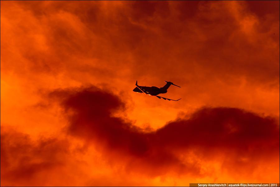 Огненный споттинг в Шереметьево