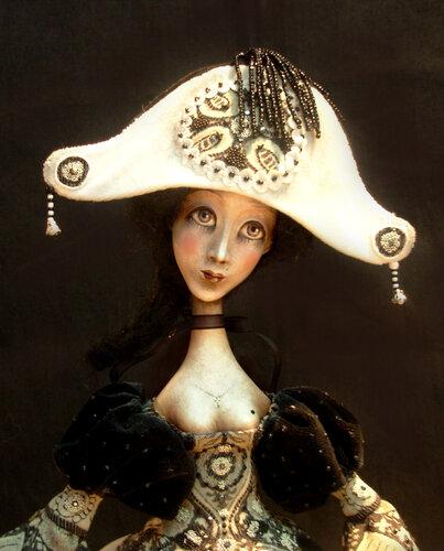 Коломбина - авторская кукла Анны Зуевой