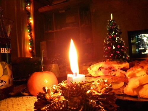 Новогодняя свеча**
