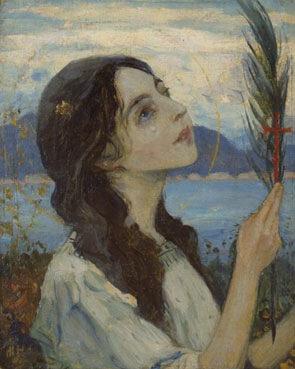 Нестеров М.В. Святая Варвара 1924