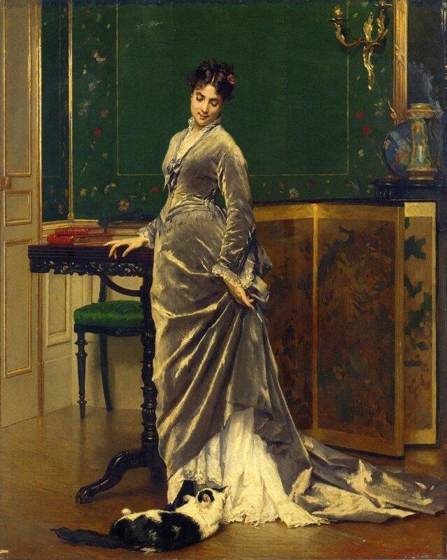 Gustave Léonard de Jonghe - A Playful Moment