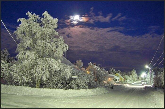 Зимняя улочка