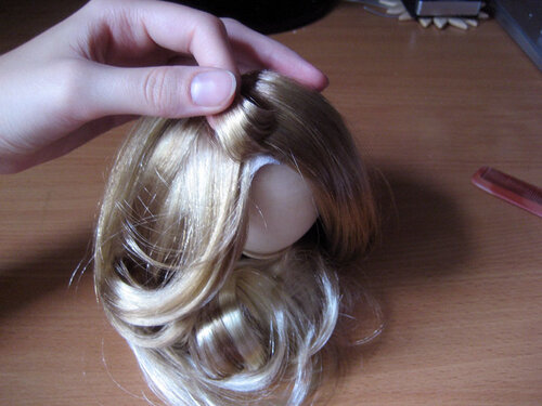 Как сделать парик для кукол из тресс