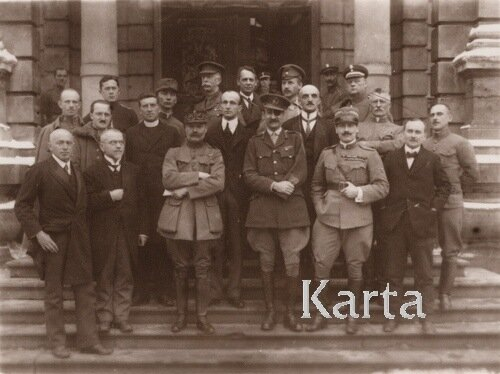 Львов, 28.02.1919_ Коалиционная миссия_украинская делегация и поляки.