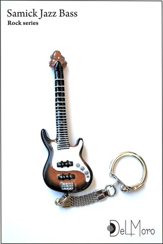 Samick Jazz Bass - electric guitar keyring 1