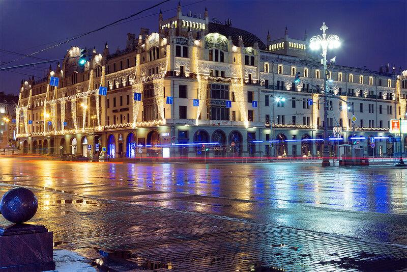 Ночные огни Москвы