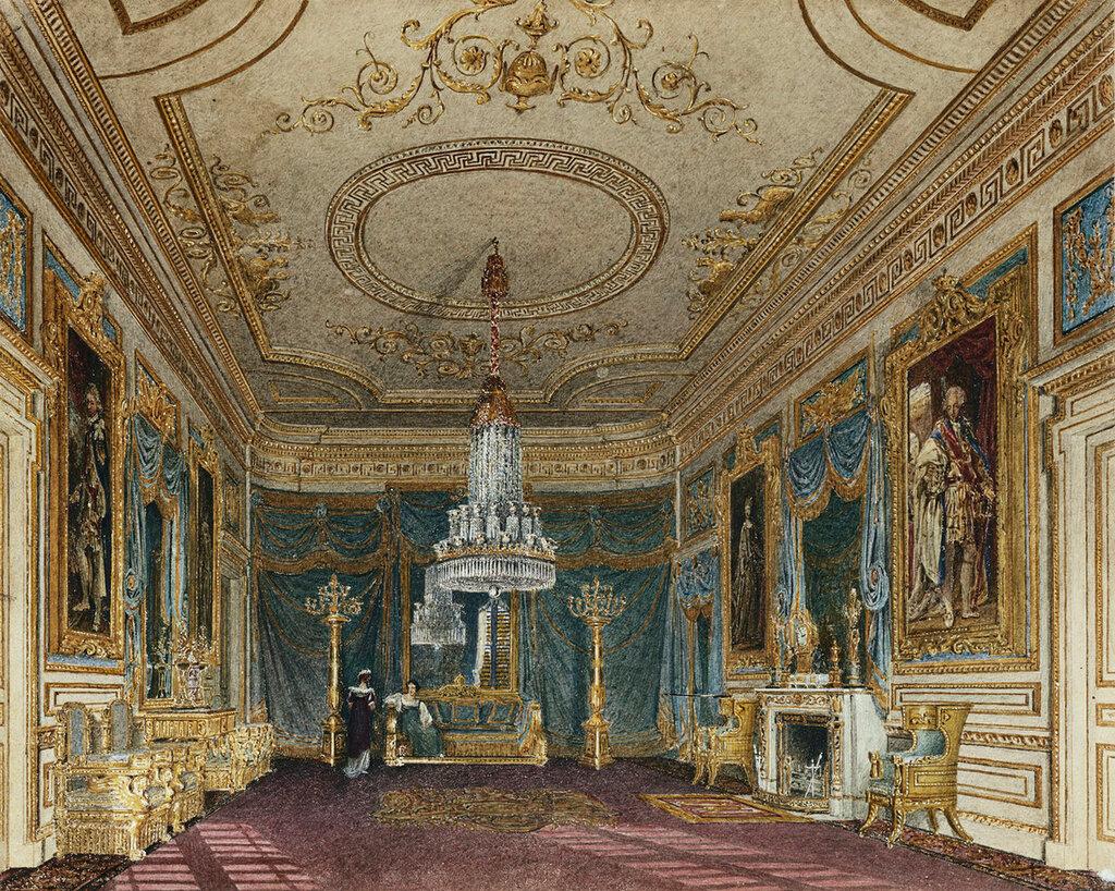 Анте палата в Тронном зале, Carlton House.  C.1816
