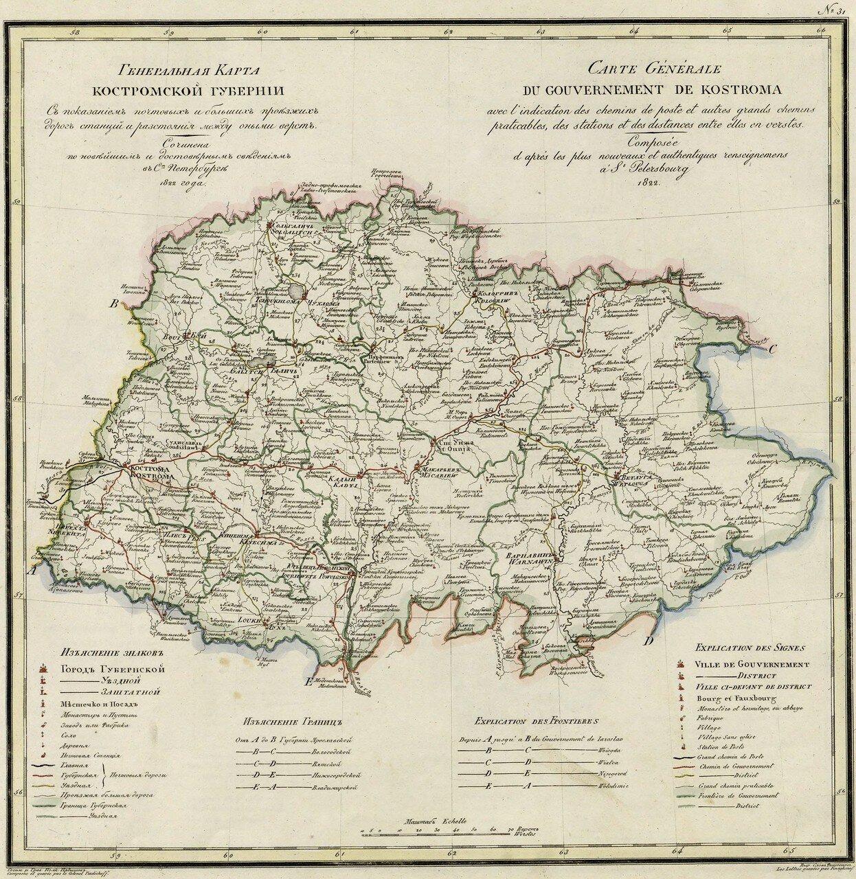 31. Костромская губерния. 1822
