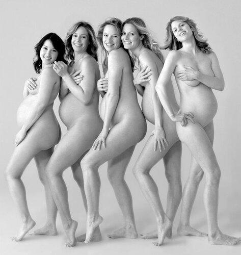 Фото красивых голых беременных девушек