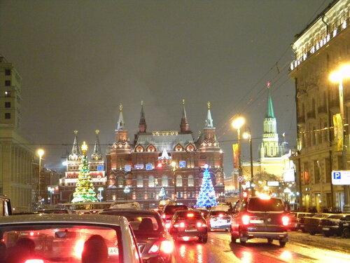 Тверская, перед Красной пл. 1.01.10 - 3.51*