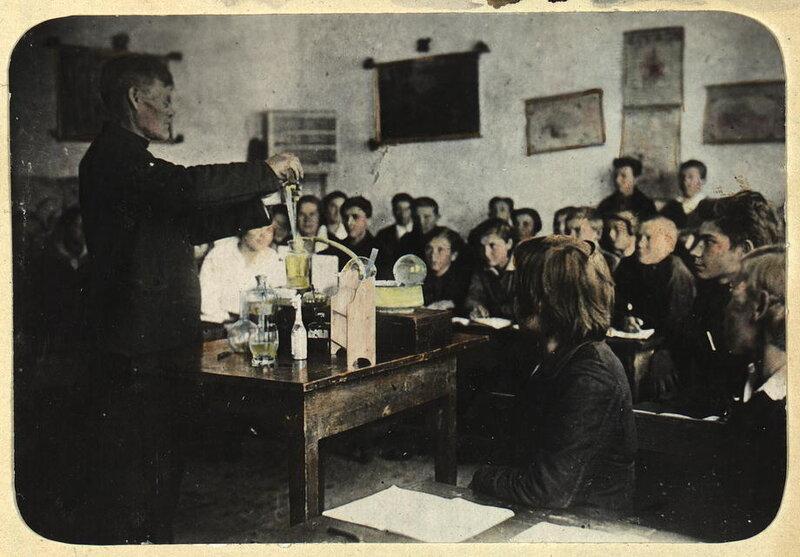 Урок химии, Новоселовская школа