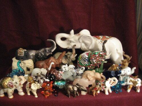 Коллекция моих слоников