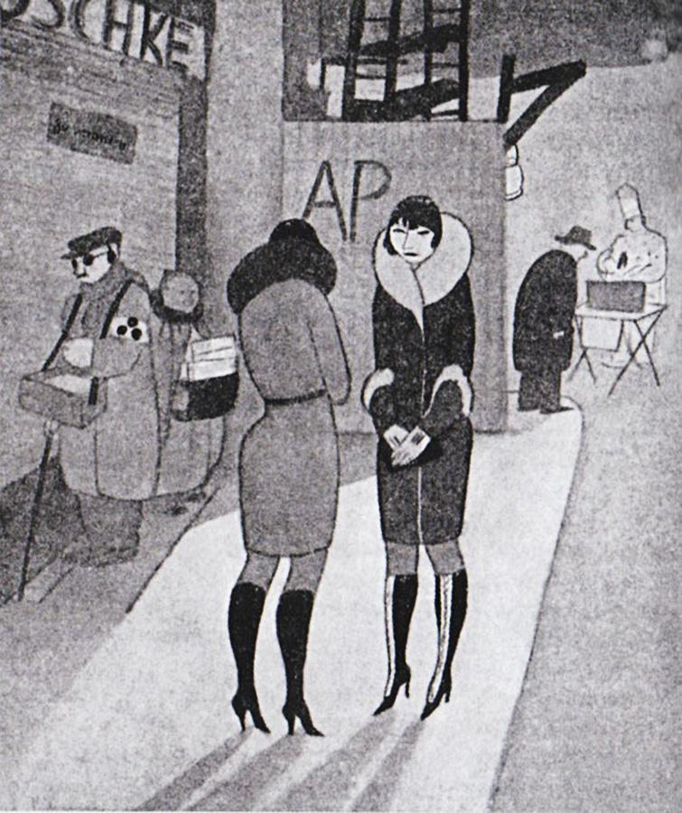 Уличные проститутки в высоких сапогах