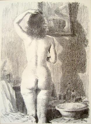 Обнаженная у зеркала | Nude near the mirror