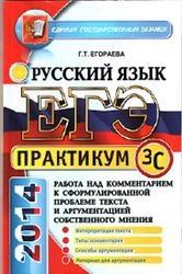 Книга ЕГЭ, Практикум по русскому языку, Подготовка к выполнению части 3(C), Егораева Г.Т., 2014