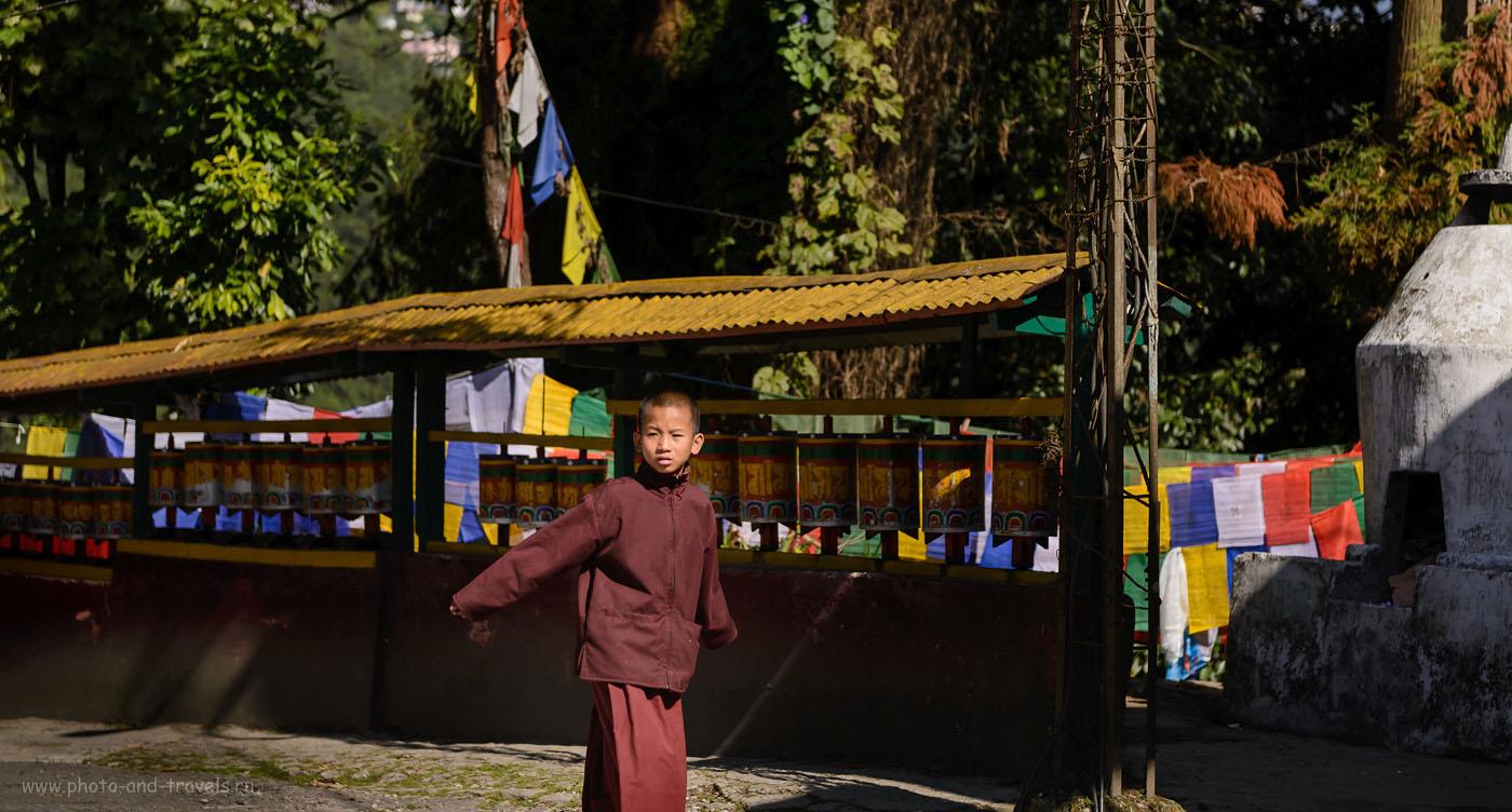 23. Мальчик-монах в монастыреEnchey Monastery. Отчет о поездке в Гангток самостоятельно. 2.8, 1/1000, 160, -0.7EV, 70.