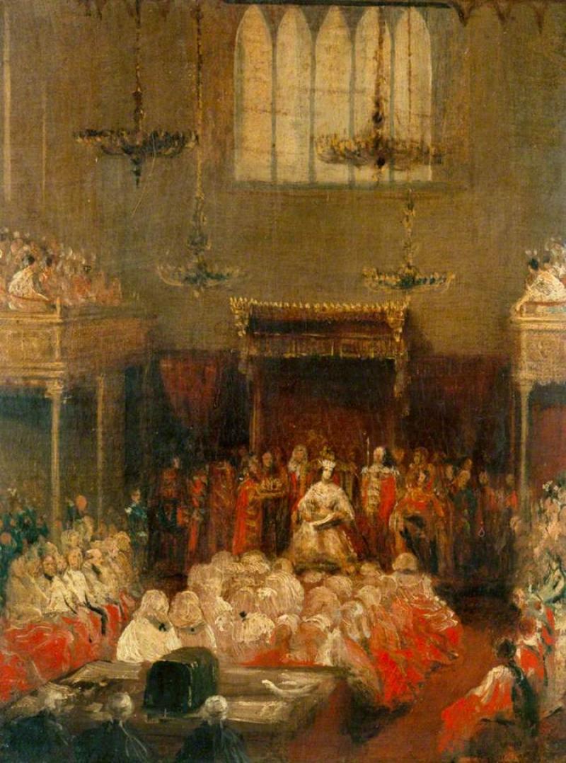 Королева Виктория Открытие парламента, 1837