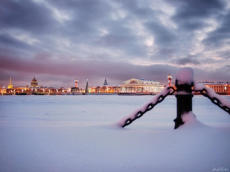 фото питера зимой
