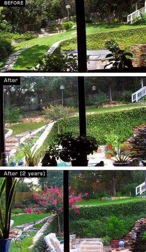 благоустройство ландшафтный дизайн до и после переделки