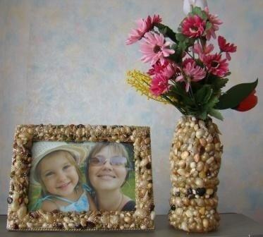 рамка и ваза обклееные макаронами не мое,но идея хорошая