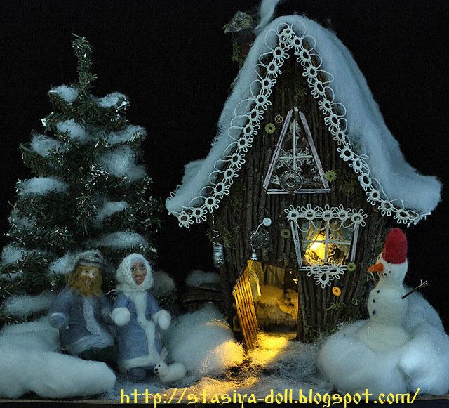 Елочные игрушки зимняя сказка своими руками