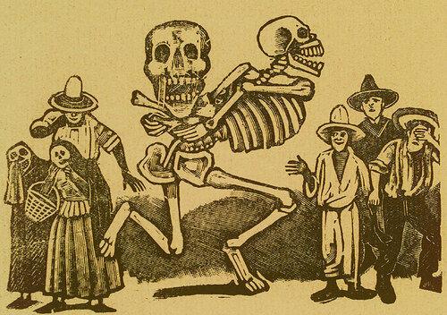 Calavera Siglo XX. Jose Guadalupe Posada. Monografia; las Obras de Jose Guadalupe Posada. n.c. : n.p., 1930. Page 178.