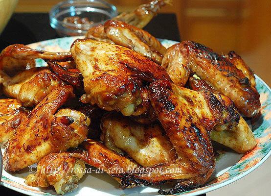 Rossa di sera cena cinese ali di pollo glassate e mele for Cena cinese