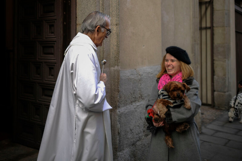 SPAIN-ANIMALS-CHURCH-BLESSING