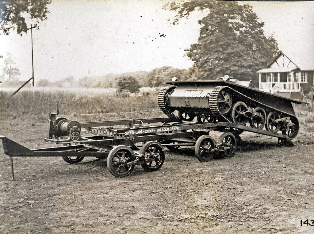 Vickers Carden-Loyd Light Tank Transporter, 1931