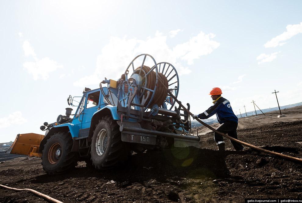 31. Бульдозеры используются для зачистки угольных пластов и подготовки трассы для укладки ж/д путей.