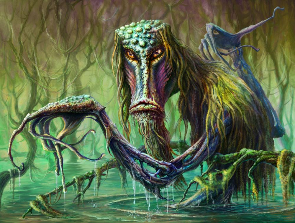 Кикимора — злой дух, насылающая кошмары на человека. На вид кикимора очень худая и маленькая: голова