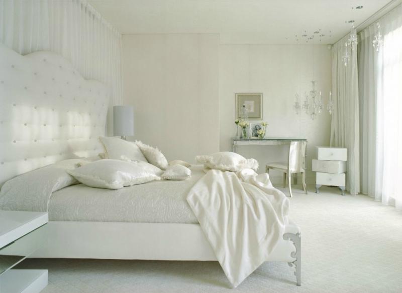 Белый цвет в интерьере спальни фото (4)