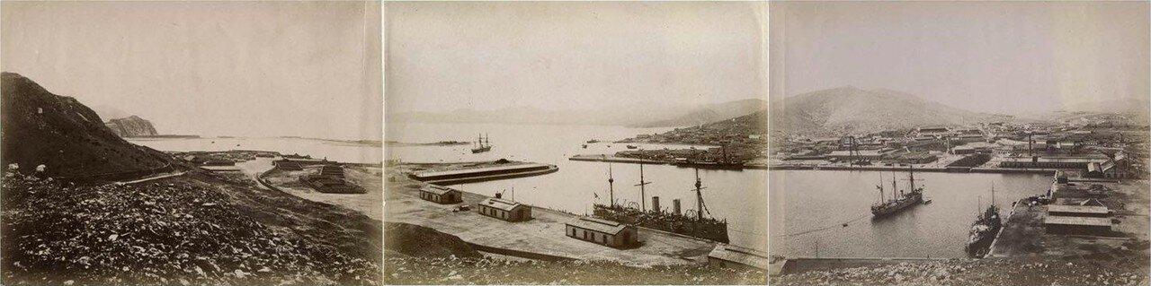 Общий вид порта. 1880.
