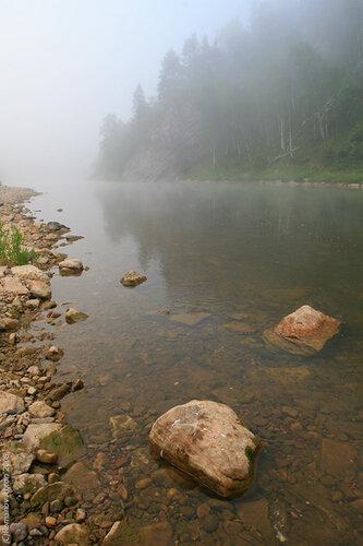 Урал. Башкирия. Река Нугуш. Восход