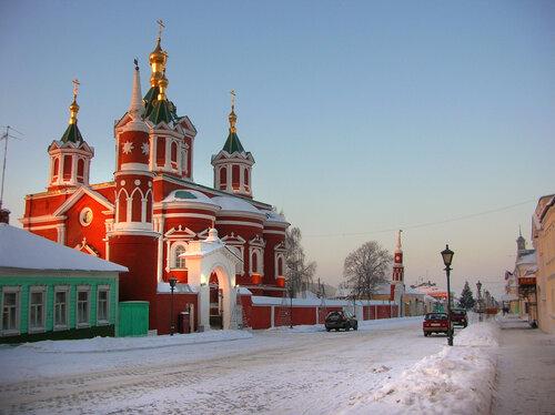 Коломна.Брусенский монастырь. Улица Лажечникова.