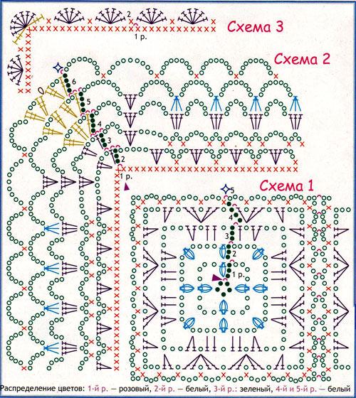 Подушка кружевная схема